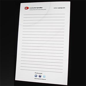 note pad printing